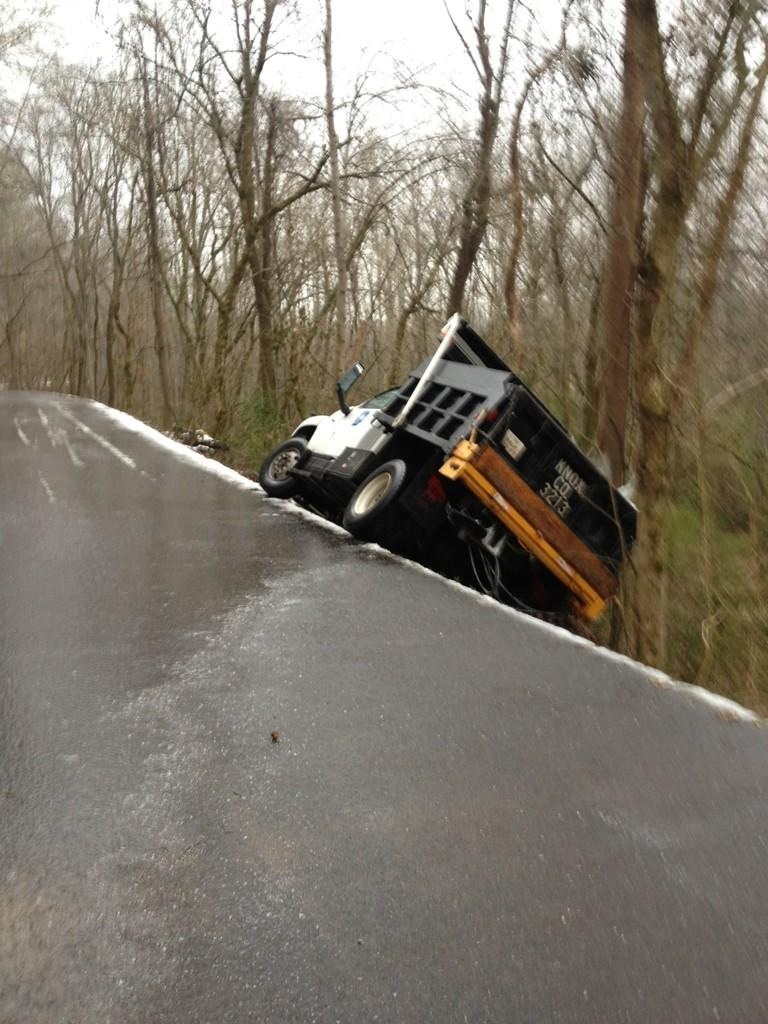 How the Mayor rolled. While actually slipped off the road. Both are safe and ok.