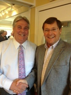 Former Knox County Sheriff Tim Hutchison (Right) and Current Knox County Sheriff Tim Hutchison (Left) at Jones Campaign Kickoff