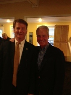 Current Knox County Mayor Tim Burchett (Left) and Former Knox County Mayor  Mike Ragsdale (Right) at Sheriff Jones Campaign Kickoff.