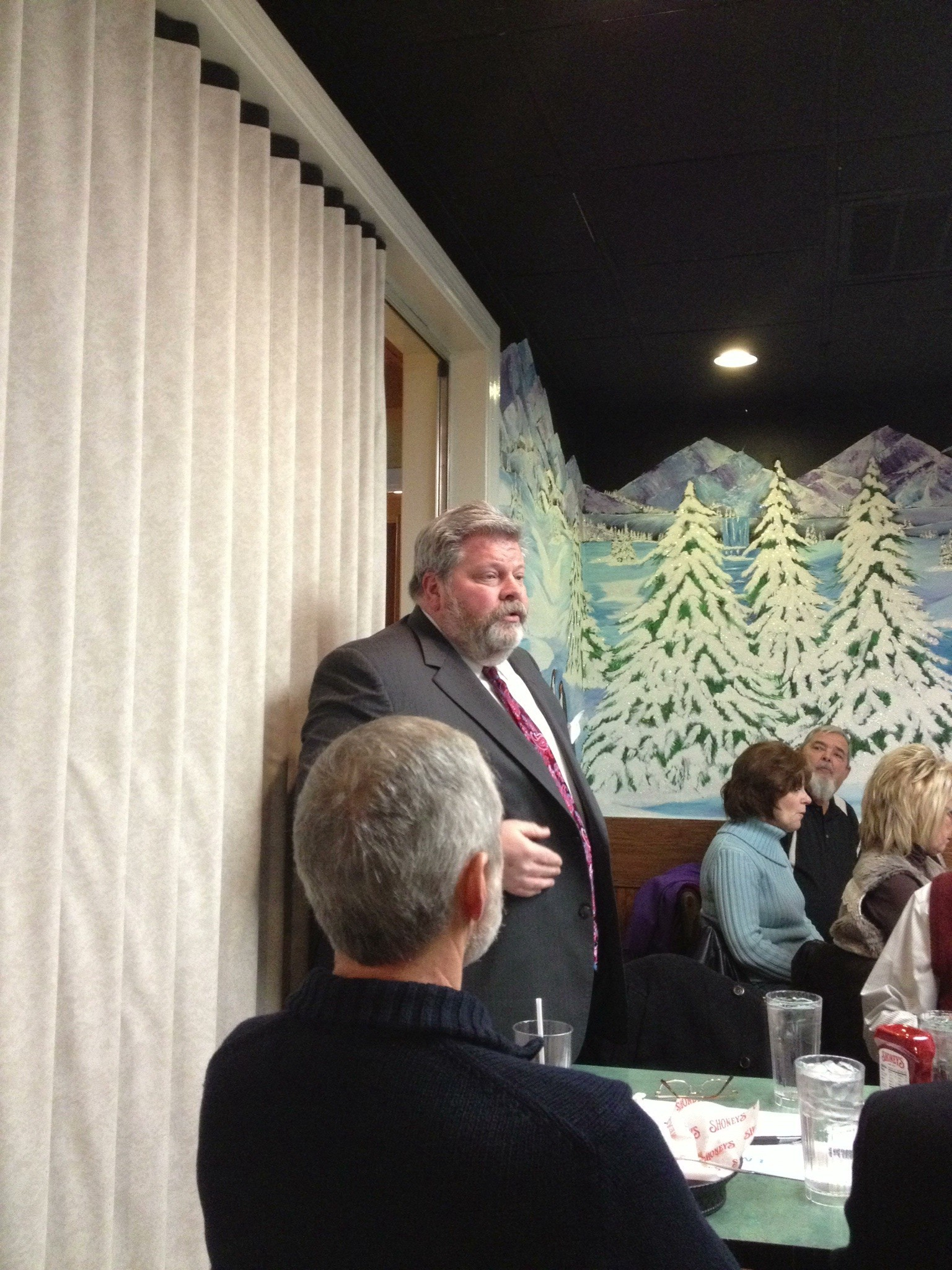 Ray Jenkins introducing himself  at the 1/23/2014 Center City Republican Club