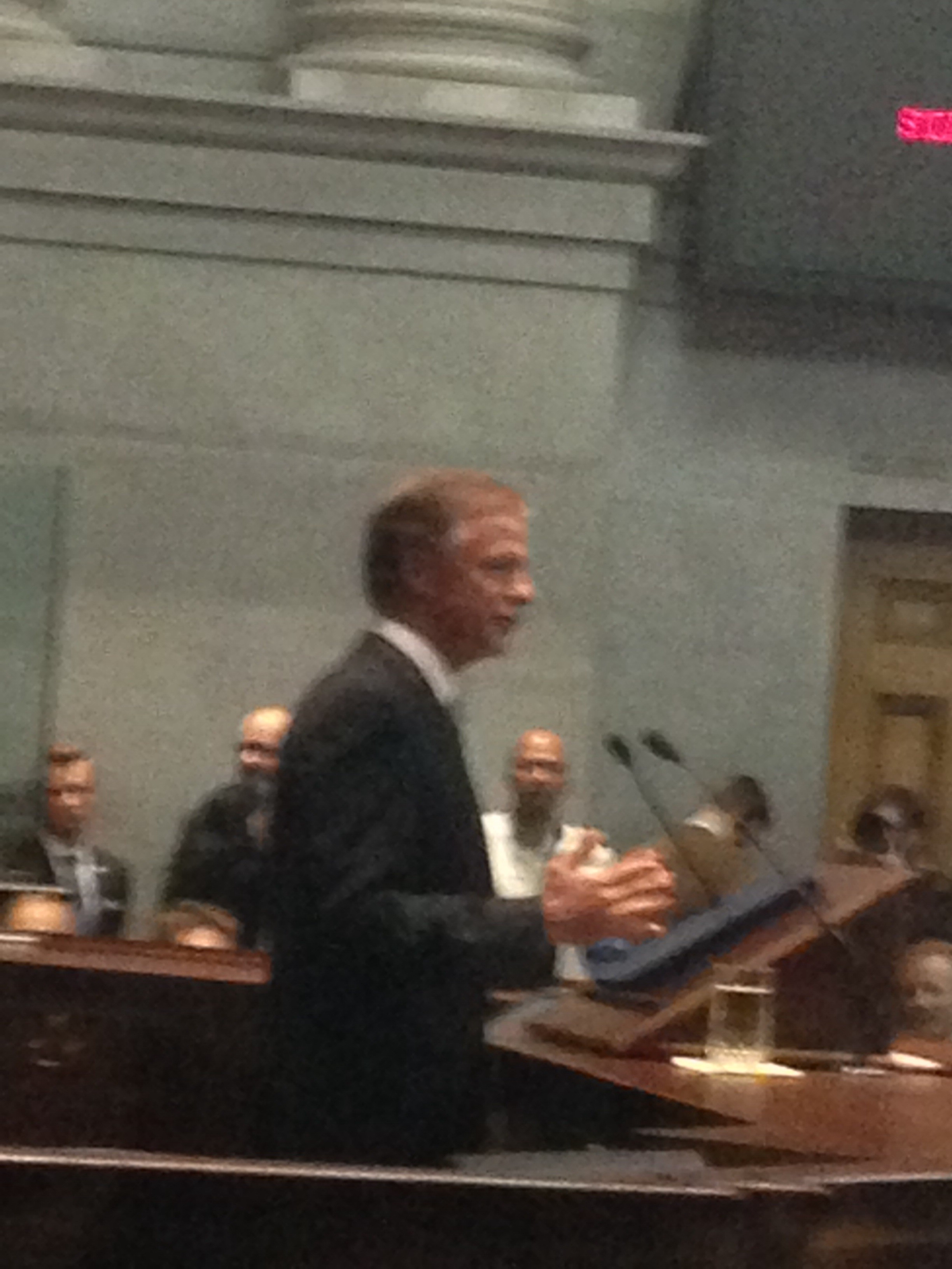 Governor Bill Haslam speaking during last nights State of the State address