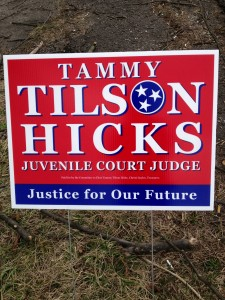 This candidates sign is NOT in compliance