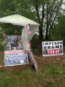 The display on the public area on the edge of the Town of Farragut US Post Office