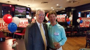 """Knox County Law Director Richard """"Bud"""" Armstrong and Candidate Bill Ailor."""