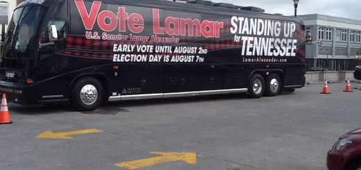 The Vote Lamar tour bus that will travel the state the next 2 weeks