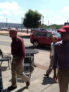 Senator Alexander and wife Honey arrive at Sullivan's after having voted at the Blount County Courthouse