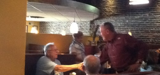 Senator Alexander greeting regular Sullivan's diners in Maryville, TN