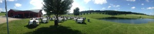 The set up for the BBQ reception at Washington County Farm of the County Mayor.
