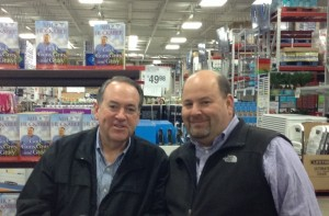 Former Governor Huckabee and I in early 2015 for the signing of his book God, Guns, Grits and Gravy.