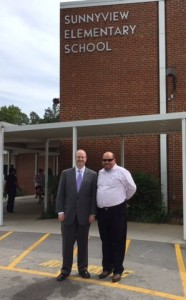 Dr. James P. McIntyre, Jr. and I outside Sunnyview.