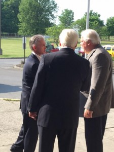 Congressman Trey Gowdy being greeted by Congressman John J. Duncan, Jr. and Blount County Mayor Ed Mitchell as he arrived at William Blount High School.