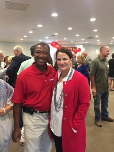 First District Republican candidate Michael Covington with Fourth District candidate Janet Testerman