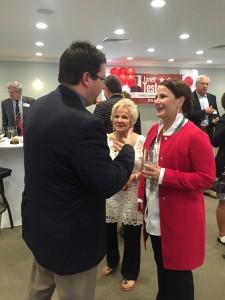 State Representative Eddie Smith (R-13) talks with Testerman