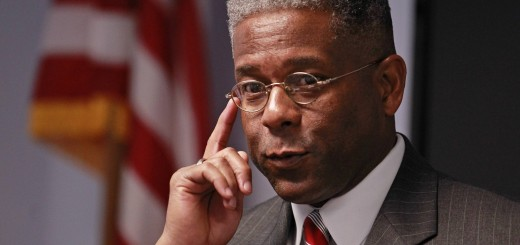 Image: Republican U.S. Rep. Allen West listens to a question at a campaign stop with guests at SCORE South Palm Beach, a resource partner to the U.S. Small Business Administration, in Boca Raton