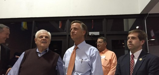 Senator Yager, Governor Haslam, State Rep. Kent Calfee (in the back with orange shirt) and Congressman Chuck Fleischman