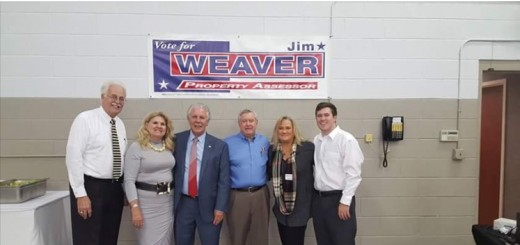 A November 2015 Meet and Greet Fundraiser hosted by Steve Ridenour and others for Weaver included former Co Commissioner Robert Lawrence Smith