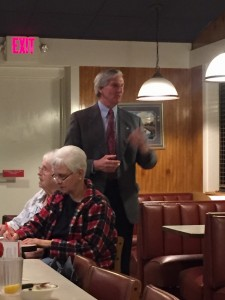 Fifth Dist. Knox Co Commissioner John Schoonmaker introducing himself to the Center City Conservatives Republican Club