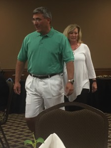 Fourth Circuit Court Judge Greg McMillian and his wife Summer modeling a Spring/Summer casual fashion