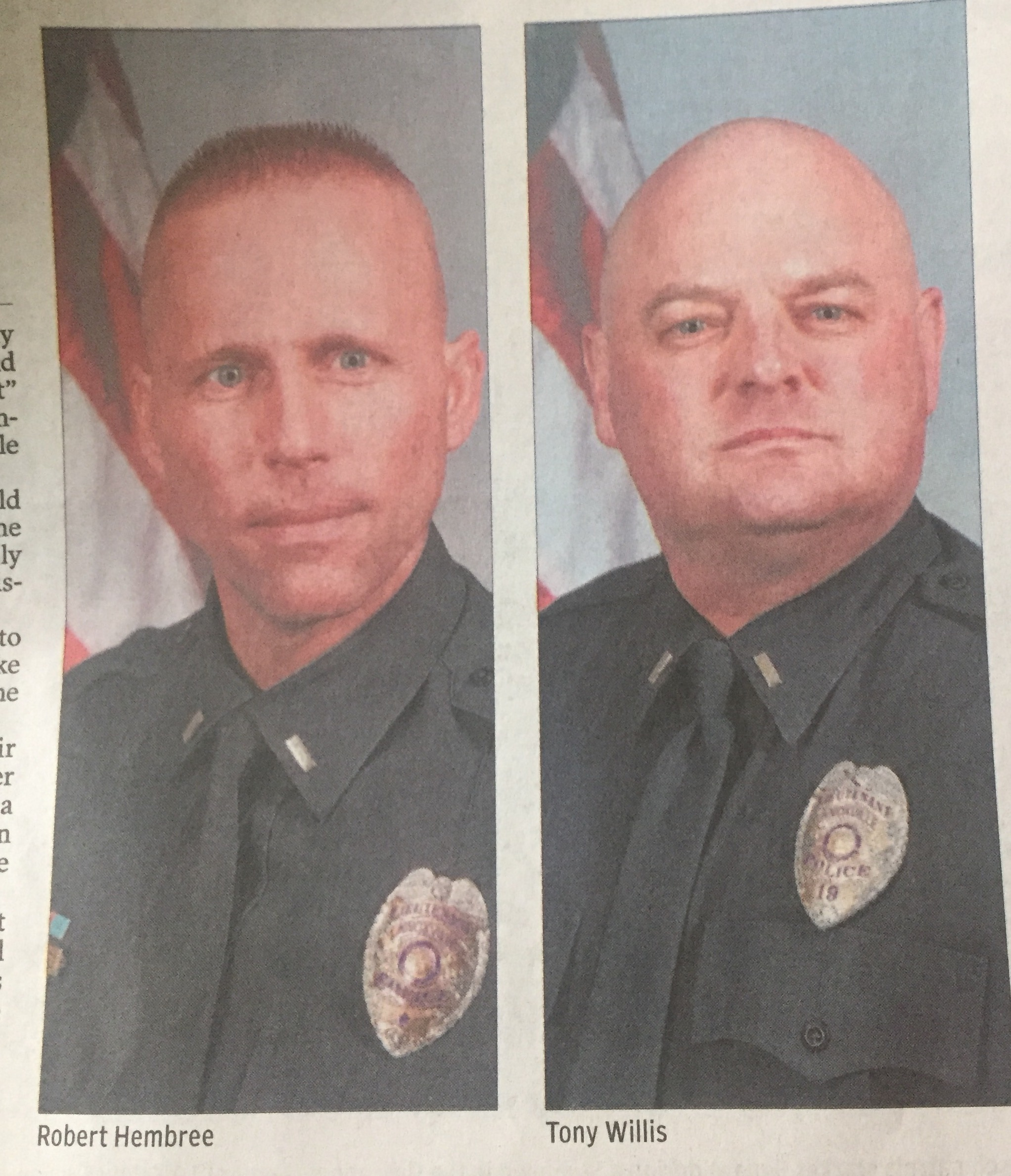 kudos to don jacobs on the moonlighting blues story on kpd in the the photo that appeared in the print edition of the knoxville news sentinel of lt