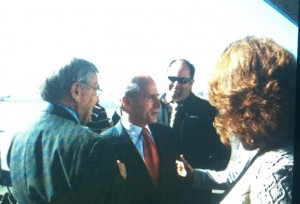 The day after Corker was elected to the United States Senate in 2006 as he flew into Knoxville. I was Knox County Republican Chairman and was behind him celebrating the win.