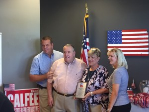 Lenoir City Councilam Jim Shields and his wife Frankie were recognized for their work with the recent Loudon County Fundraising Picnic