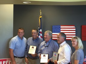 State Rep. Kent Calfee, State Senator Randy McNally and State Rep Jimmy Matlock were recognized and honored by the party for their work for the party and its recent fundraiser. Loudon County GOP Vice Chair Leon Shields and Chair Mellissa Browder recognized the legislators on the parties behalf.