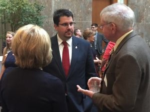 Smith introducing one of his constituents to Congressman Diane Black