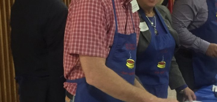 State Rep. John Mark Windle and MY State Senator Becky Massey were serving the chili