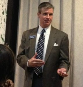 Gary Loe speaking at a Center City Conservatives Republican Club