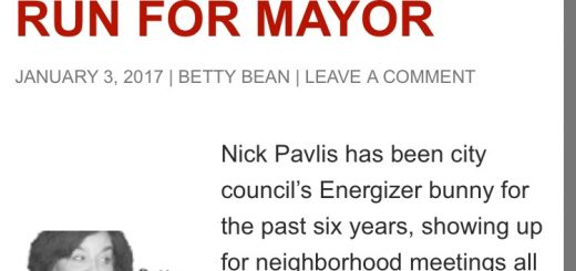 A screenshot of today's online article that shows 2018 Mayor.
