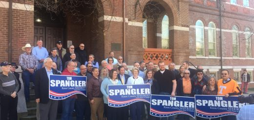 Tom Spangler announcing his 2018 candidacy for Sheriff in 2018