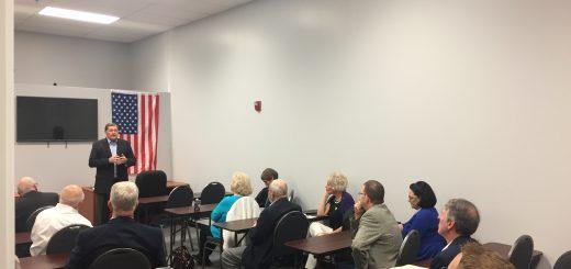 Former Sheriff Tim Hutchison talking to the Concord Farragut Republican Club