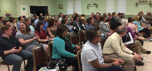 The attendees at the Town Hall East meeting
