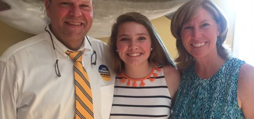 Lee and Meg Tramel and their daughter Casey.