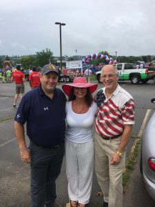 Knox County Clerk Candidate Tim Wheeler, our mutual friend Brook Krug and myself before the parade.