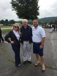 Congressman John J. Duncan, Jr. with Knox County Commission at Large candidate Justin Biggs and his wife Heather