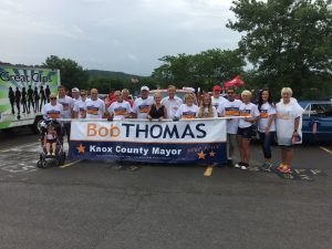 Knox County Mayor Candidate Bob Tomas and his supporters.
