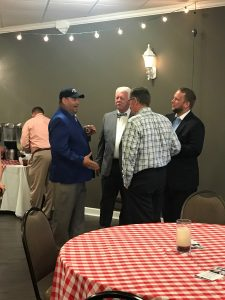 Brian Hornback of BrianHornback.Com talking with Farragut Alderman Ron Williams, Justin Biggs and Ron Rochelle both 2018 Candidates for Knox County Commission at Large.
