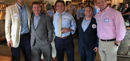 Bruce, 2018 Knox County Commission candidate Larson Jay and a few supporters at a recent joint Bruce/Jay meet and greet