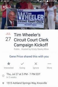 Tim Wheeler's Facebook announcement
