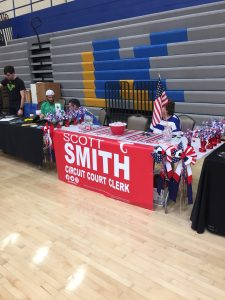 Scott Smith, candidate for Knox County Circuit Court Clerk had a table