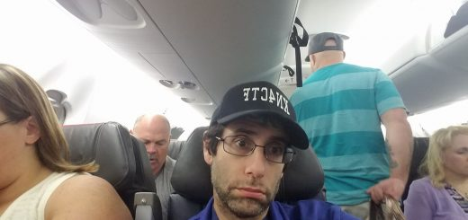 Andrews on the plane this morning. Source: Dan's Facebook page