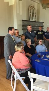 The Spangler Family, two of his sister's and Mother seated, Spangler and his brother Bobby standing