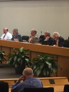 from left to right, Commissioner Brad Anders, Dave Wright, Carson Dailey, Bob Thomas and Ed Brantley.