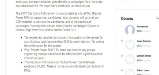 screenshot from an online collection site that explains the rules, but list Anonymous contributions.
