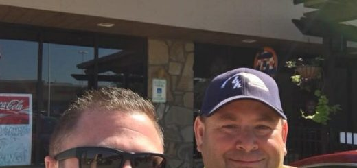 "David ""the haf"" and I outside Sam & Andy's Fountain City on 10/12/2017 following lunch."