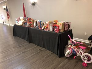 Gifts brought for Mission of Hope