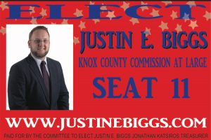 Justin Biggs, Candidate for Knox County Commission at Large Seat 11
