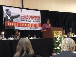 Mrs. Tearsa Smith of WATE News was Master of Ceremonies