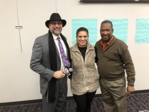 Armstrong with Evetty Satterfield and EKCM Organizer Michael Covington